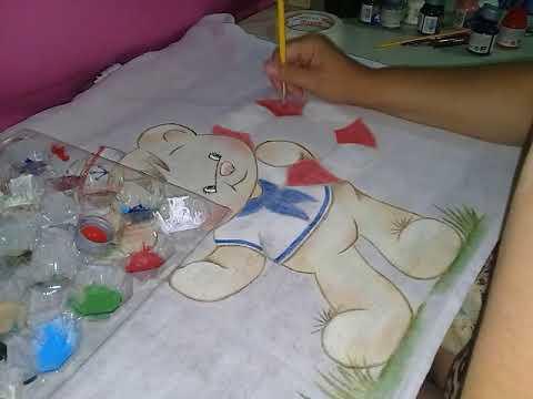 Pintura á seco - Ursinho Marinheiro