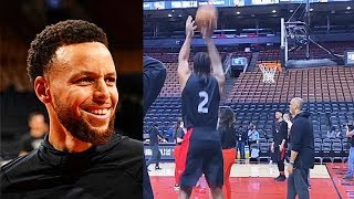 Kawhi Can't Miss & Stephen Curry Half Court Shot In 2019 NBA Finals Practice! Warriors vs Raptors