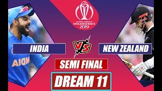 India v New Zealand #INDvNZ - LIVE Match Score -ICC Cricket World Cup 2019 - 1st Semifinal