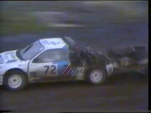 Rallycross Inter-Nations Cup Croft 1987 B Final and A final