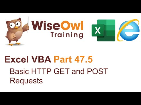 Excel VBA Introduction Part 47.5 - Basic HTTP GET And POST Requests