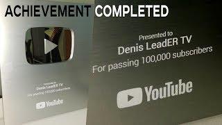 """Достижение канала """"Denis LeadER TV"""" – Получил серебряную кнопку YouTube!"""