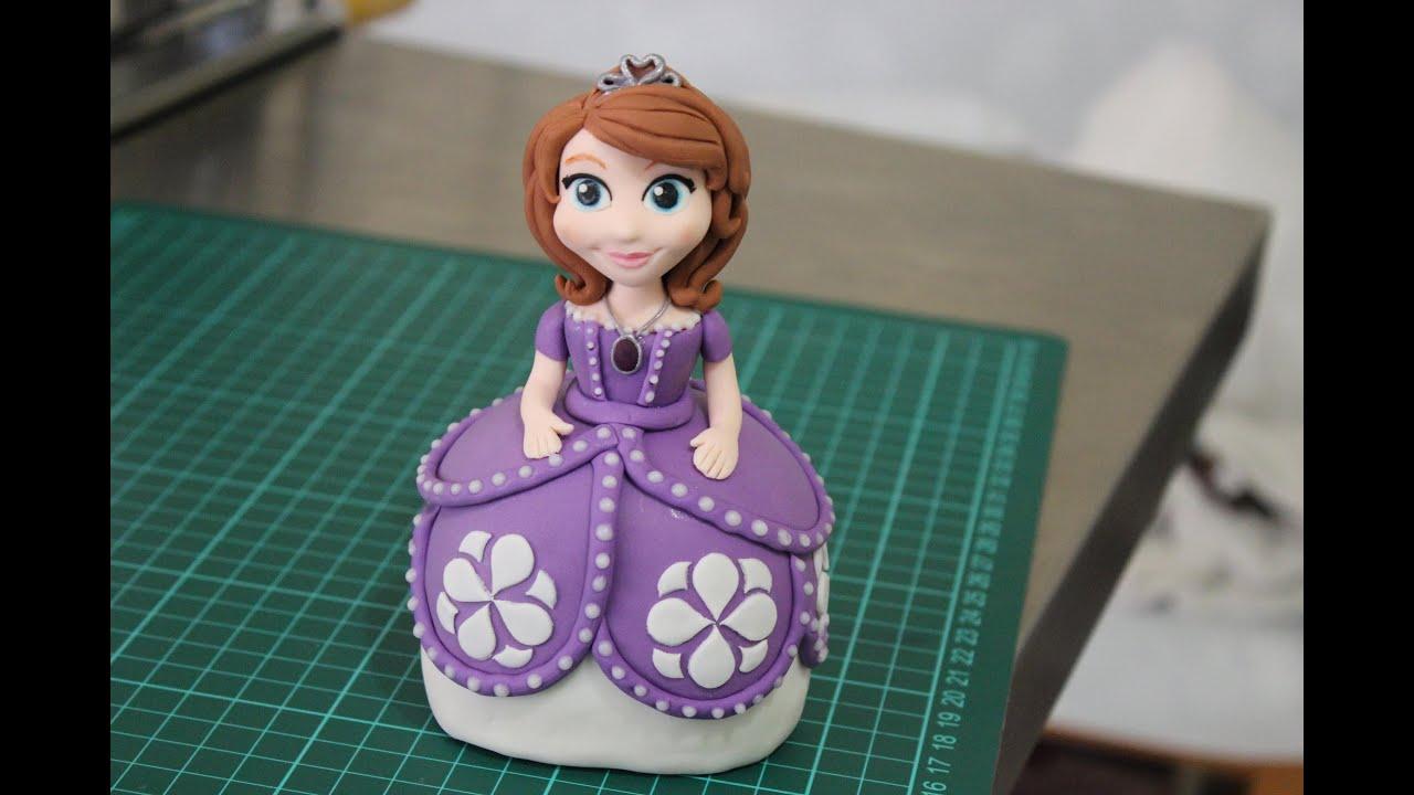 Sofia The First Fondant Figurine Youtube