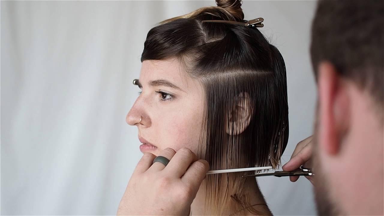 undercut square bob // razor fringe