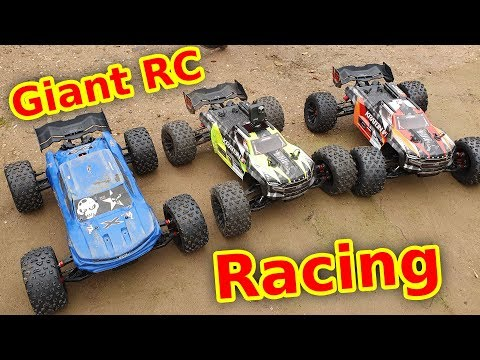 3x Arrma Kraton 8s Giant RC Cars On A Race Track