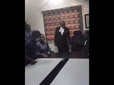 BABA IJESHA PROSTRATES TO THANK HIS LAWYERS AFTER THEY SECURED A 2M BAIL FOR HIM