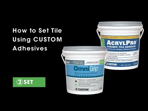 How to Install Tile Adhesives