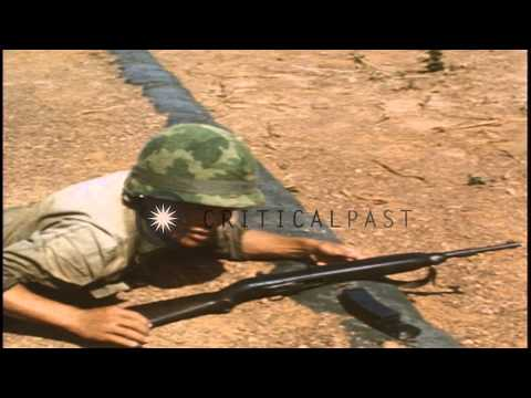 Vietnamese Popular People's Army men receive instructions from Tiger Division Kor...HD Stock Footage