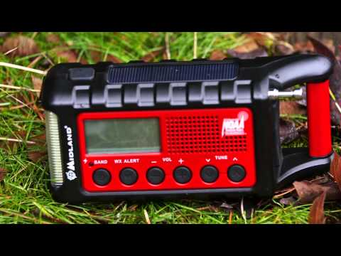 Midland ER200 and ER300 Emergency Crank Weather Alert Radio