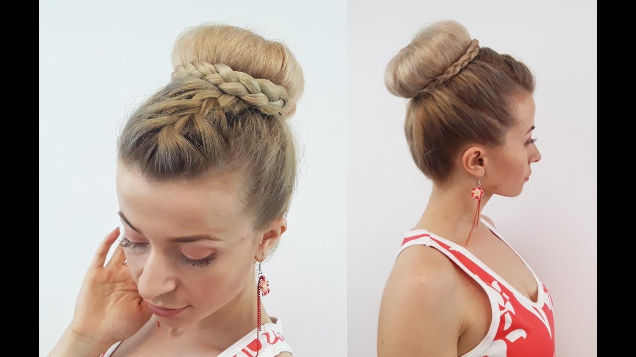 EASY HAIRSTYLE CUTE BRAIDED BUN UPDO | Awesome Hairstyles - YouTube