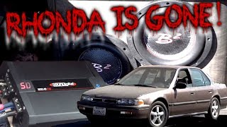 Rhonda is GONE. A proper BASSHEAD sendoff 1990 Honda Accord One Last Bump
