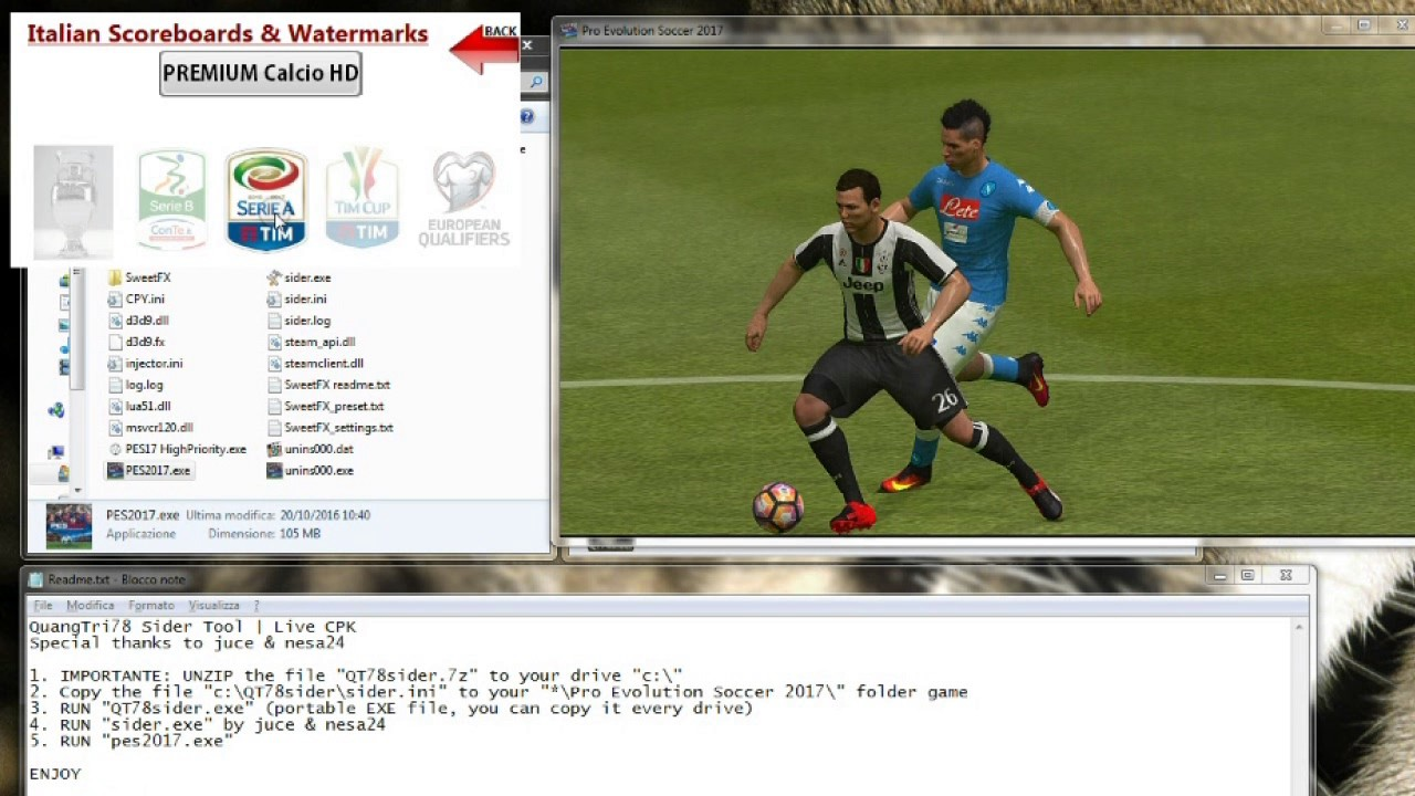 QuangTri78 Sider Like CPK Tool for PES2017 PC