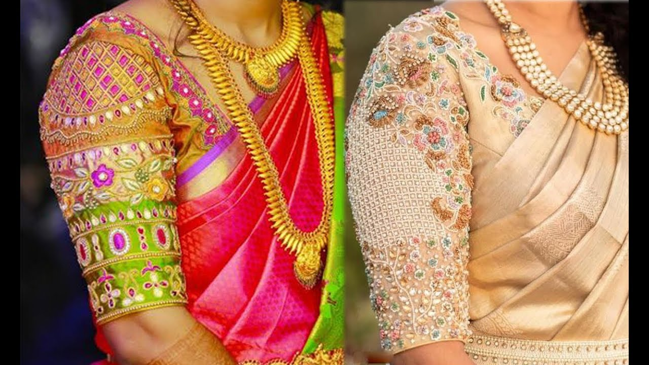 ae2fe3b24b5a7e Party Wear Blouse Designs Collection 2019 | Blouse Designs For Silk Saree | Maggam  Embroidery Work