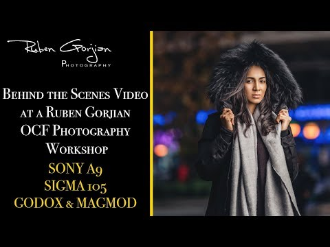 Behind the Scenes Video at a Ruben Gorjian OCF Photography Workshop
