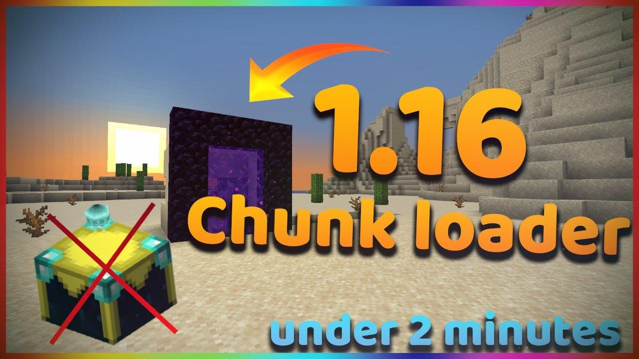How to make 10.106 chunk loader in vanilla minecraft  Minecraft