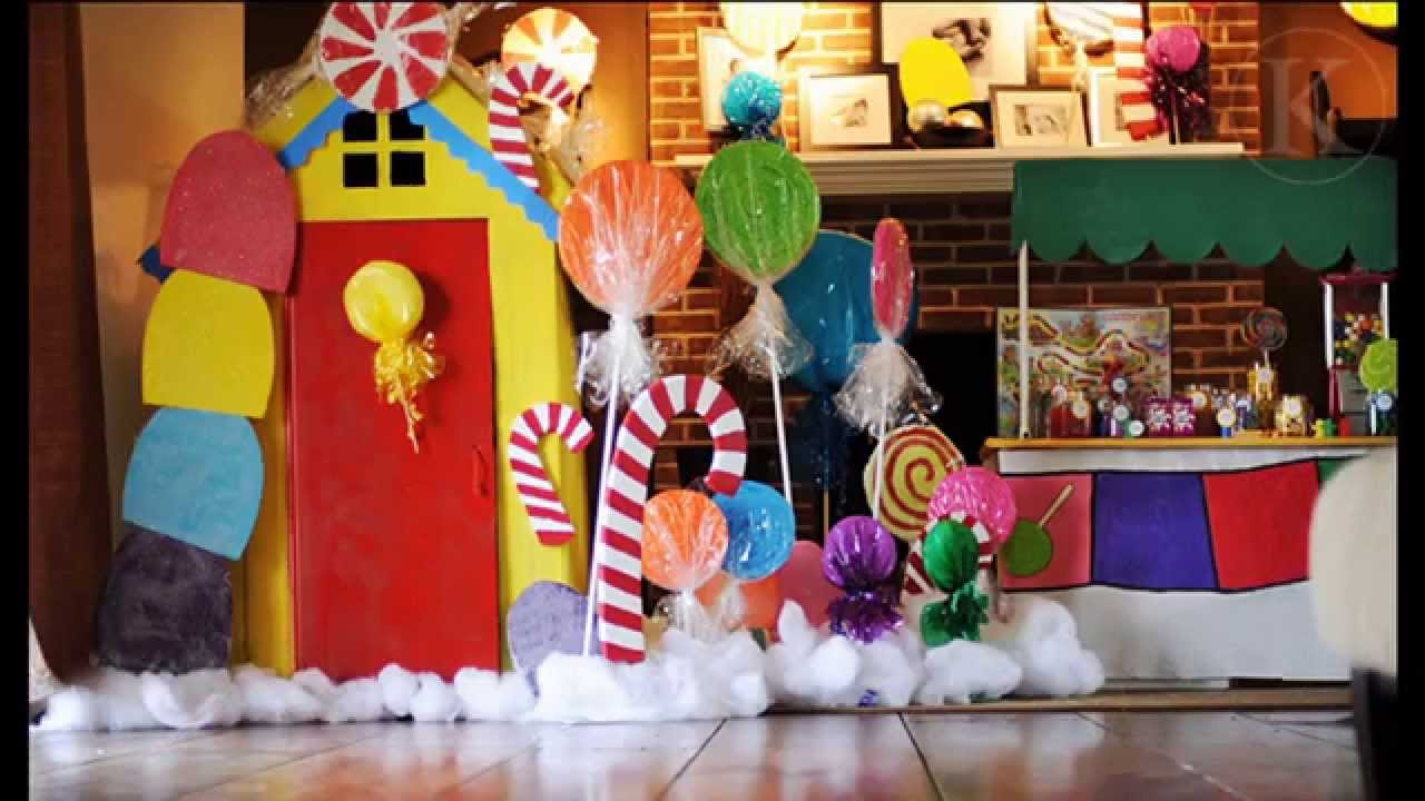 Stunning candyland birthday party decorations ideas youtube for R b party decorations