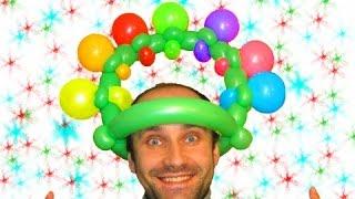 Прикольная шапка из шариков ★ hat made of balloons