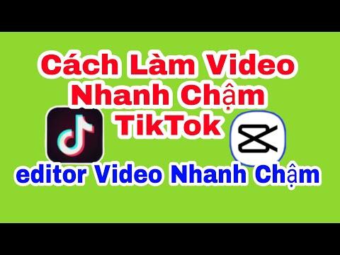 Cách làm video nhanh chậm hot trend tik tok - cách edit video nhanh chậm bằng app viamaker