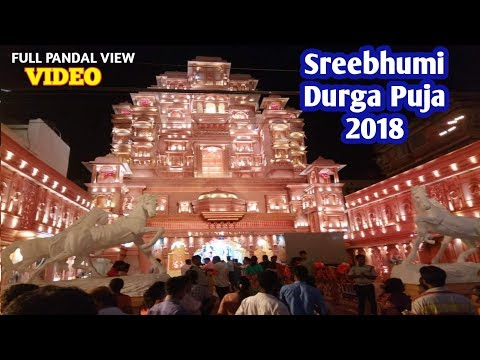 Sreebhumi Sporting Club Durga Puja Pandal Opening,best pandel Padmavat kolkata theme Live Video 2018