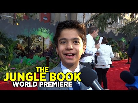 """The Jungle Book"" World Premiere red carpet with Neel Sethi and the cast of ""Stuck in the Middle"""