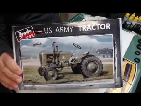 Start paint work on US Army Tractor from Thunder Modeles
