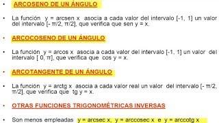 Funciones Trigonométricas Inversas Ejercicios Resueltos Nivel 1 Matemáticas Trigonometría