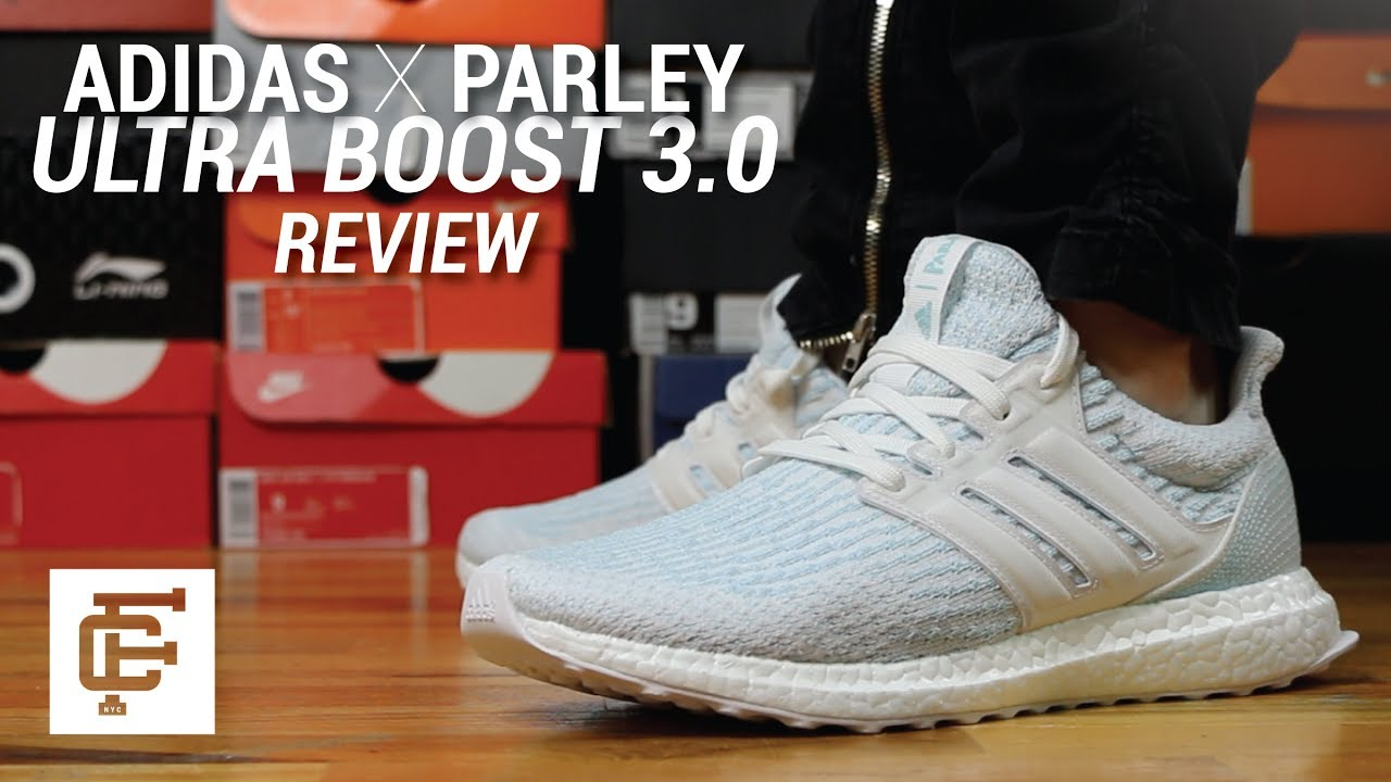 abac67d47 ADIDAS X PARLEY ULTRA BOOST 3.0 WHITE REVIEW - YouTube