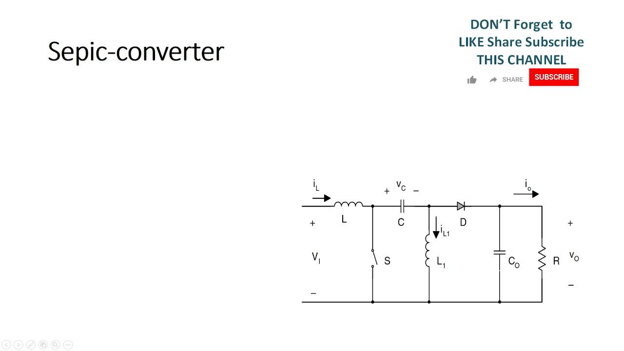 Dc - Dc Sepic Converter Simulation using Matlab Simulink Model