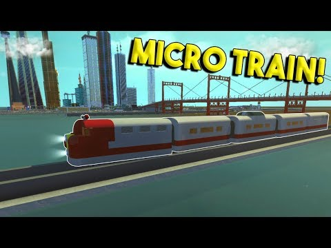 MICRO TRAIN & STATION! - Scrap Mechanic Gameplay City - Micro City EP 5