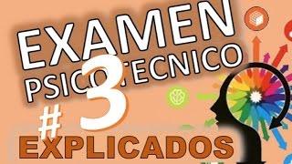 TEST PSICOTECNICOS OMNIBUS # 3 VARIADOS DE EXAMEN EXPLICADOS En español