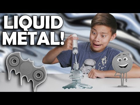 Thumbnail: PLAYING WITH LIQUID METAL!!! Melting Gallium Fidget Spinner Experiment!
