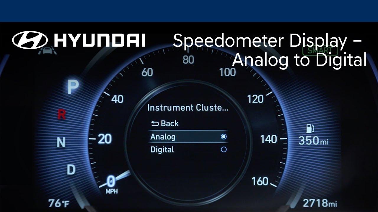Hyundai Santa Fe Limited >> Speedometer Display – Analog to Digital | Santa Fe