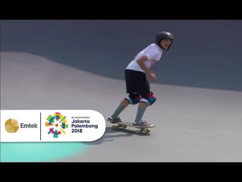 Aksi Ciamik Dennis Lunzaat, Atlet Skateboard Indonesia | Asian Games 2018