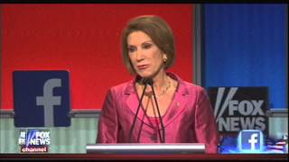 Carly Fiorina debate clips August 6 2015