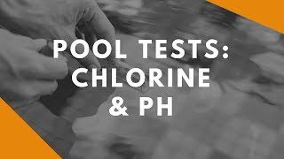 Testing for Free Total Combined Chlorine and pH