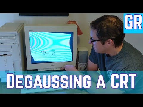 Degaussing a 25 year old CRT Monitor
