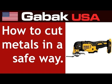 How to cut metals in a safe way (oscillator tool)