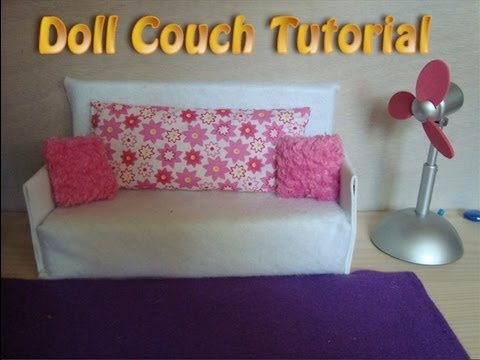 18 Doll Sofa Diy Southwestern Style Bed How To Make Couch Tutorial Easy Youtube