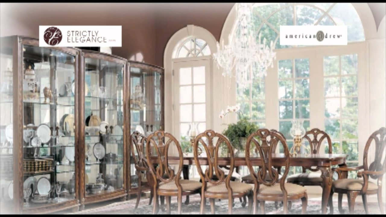 American Drew Bob Mackie Home-Classics Dining Room - YouTube