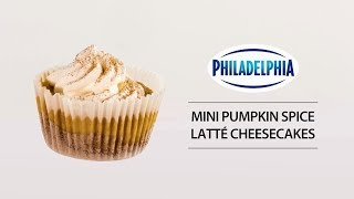 Mini Pumpkin Spice Latté Cheesecakes
