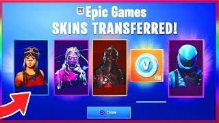 *NEW* MERGE ACCOUNTS In FORTNITE! - TRANSFER SKINS In Fortnite! (Fortnite Account Merging