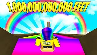 I SLID DOWN 1,000,000,000,000 FEET to Become a CELEBRITY.. (Roblox)