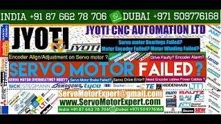 Jyoti Machine CNC Repair Heidenhain Encoder, Commutation encoder Alignment, Simodrive Encoder Fault