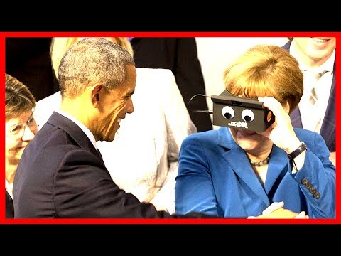Barack Obama and German Chancellor Merkel Kirchentag Speech Germany