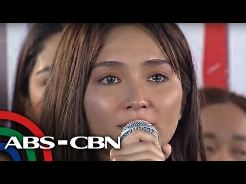 UKG: Kathryn Bernardo, Naging Emosyonal Sa Kanyang Speech Sa Victory Party Ng 'The Hows Of Us'