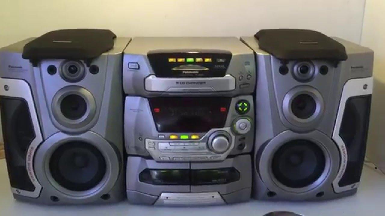 Panasonic Sa-ak45 5 Disc Stereo System  4 Way 160w Sound
