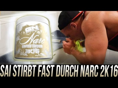 SAI KOTZT UND STIRBT! Narc Limited 2k16 Dat xtra Scoop 3.0 TEST Narc Workout Booster Kotz Eskalation