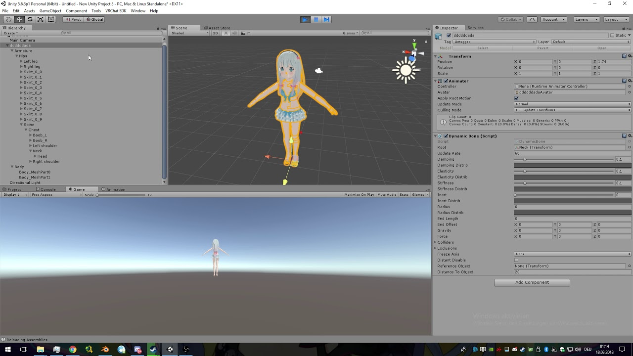 VRChat - How to Add Dynamic Bones / Jiggle