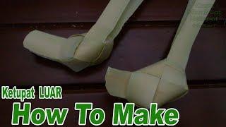Cara Membuat Ketupat Luar dari Daun Kelapa