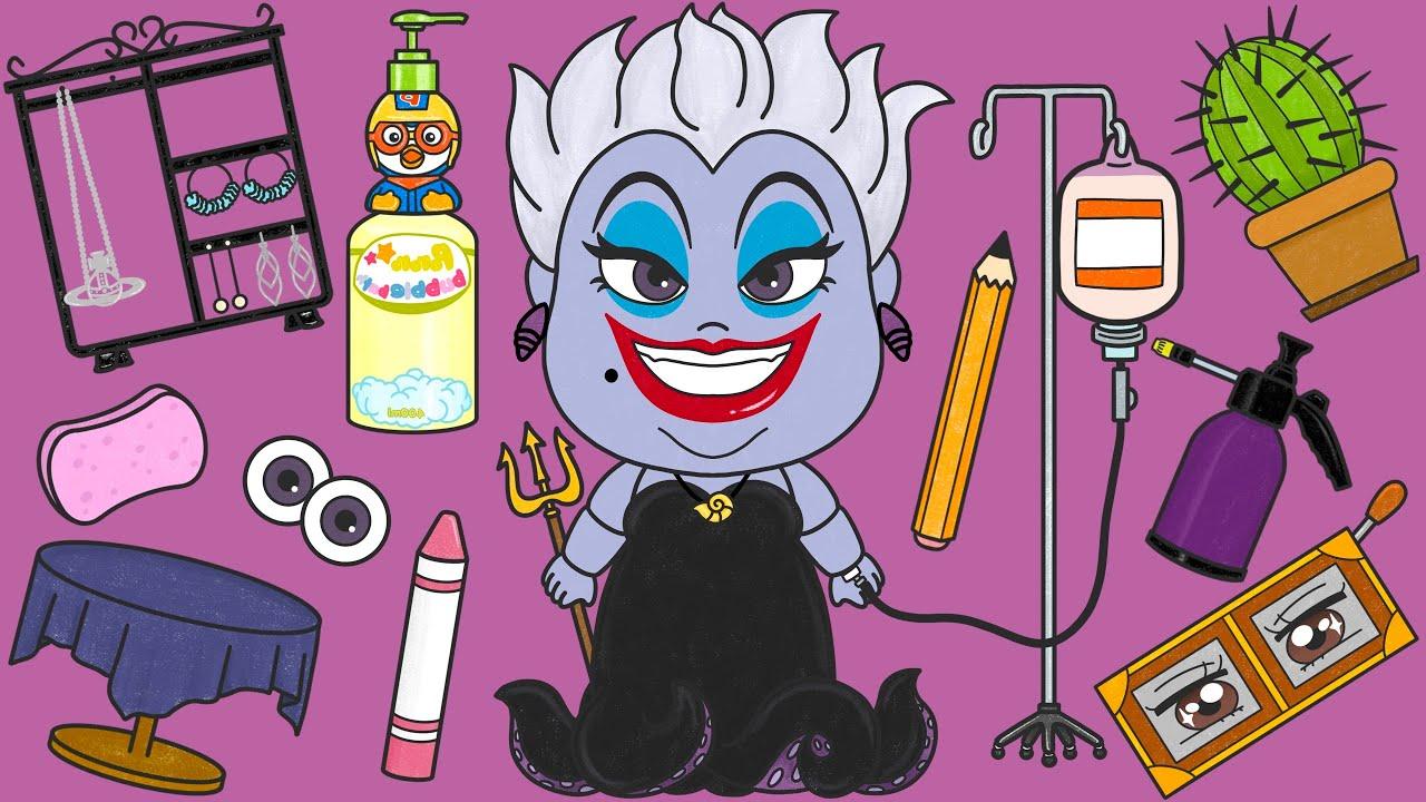 인어공주 우르술라 마녀 인형 수리하기 스톱모션 The Little Mermaid Villain Ursula Doll Repair Stop Motion